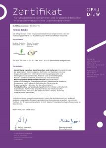 Zertifikat Gruppendolmetscherin